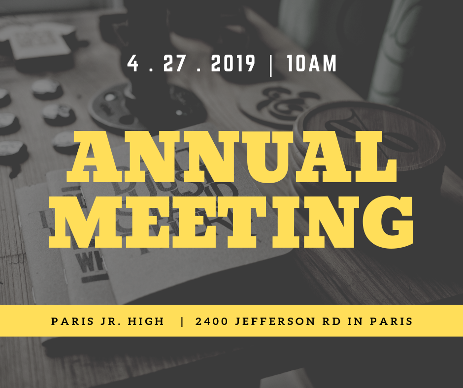 Annual Meeting April 27